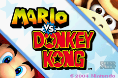 Mario vs. Donkey Kong Title Screen